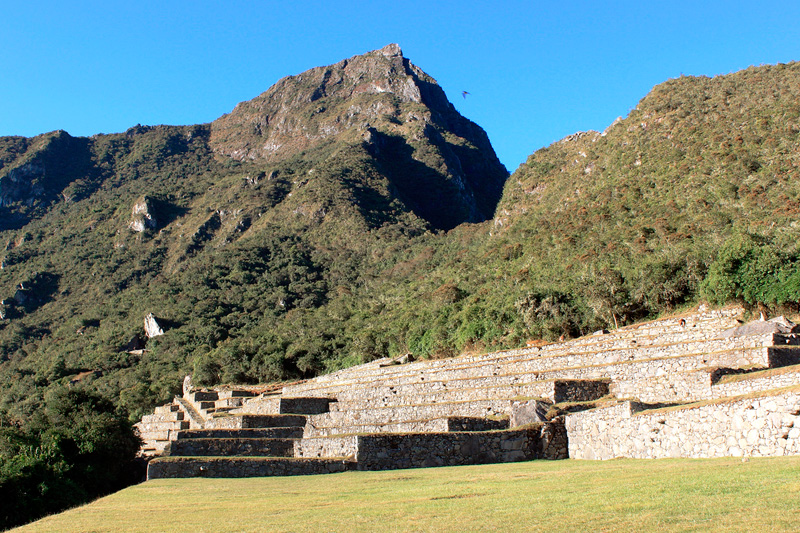First group of platforms of Machu Picchu