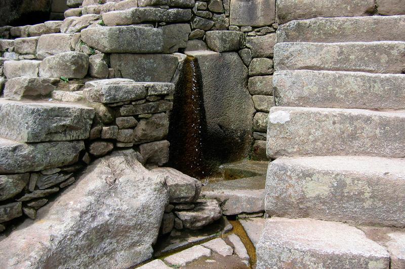 fuente principal Machu Picchu
