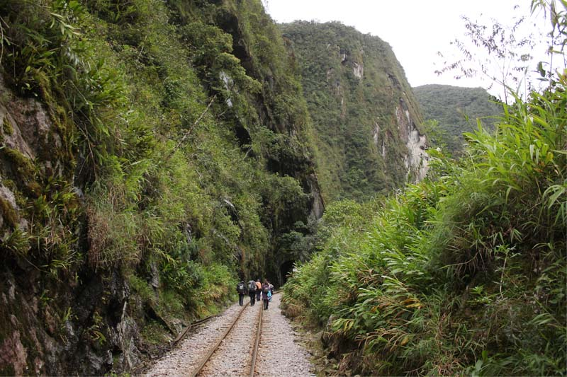 Cammina verso Aguas Calientes