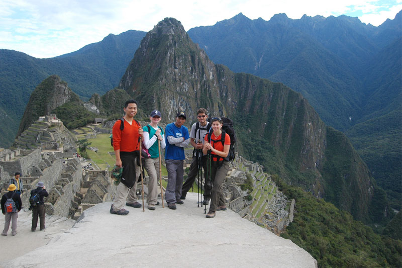 Travelers in Machu Picchu