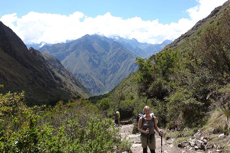 Camino Inca hacia Machu Picchu