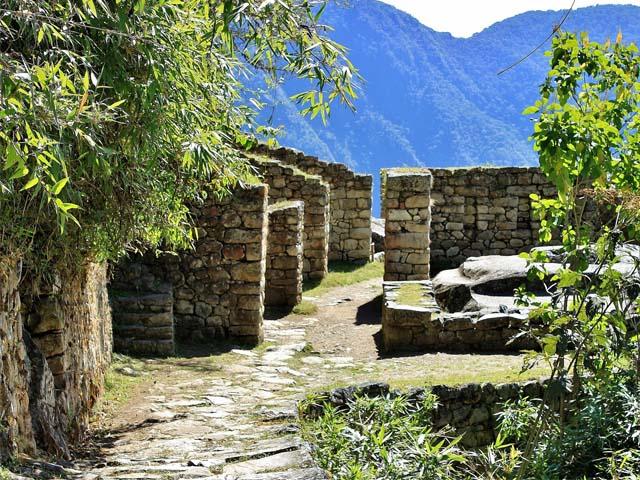 Parte posterior del Intipunku, ingresando a Machu Picchu