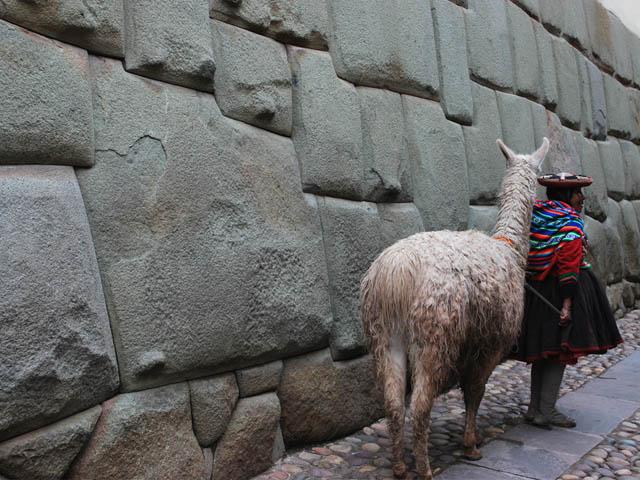 La piedra de los 12 ángulos en la calle Hatun Rumiyoc