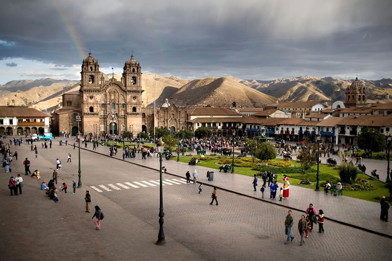 Cusco in rainy weather