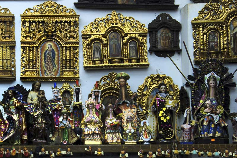 Set of handmade crafts