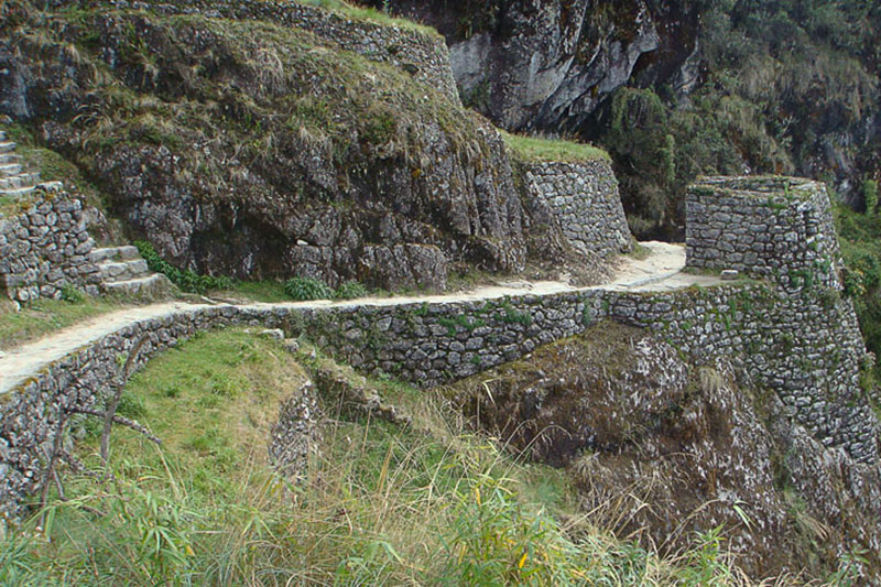 Inca remains on the Inca Trail