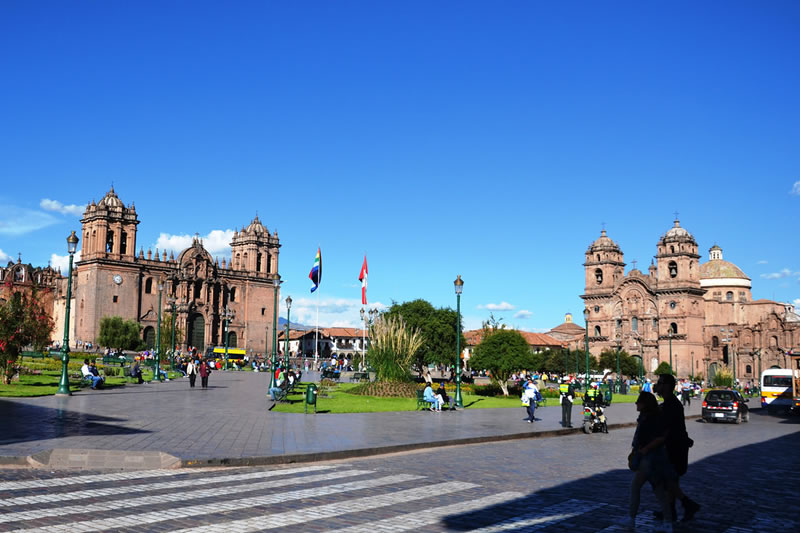 View of the Plaza de Armas of Cusco