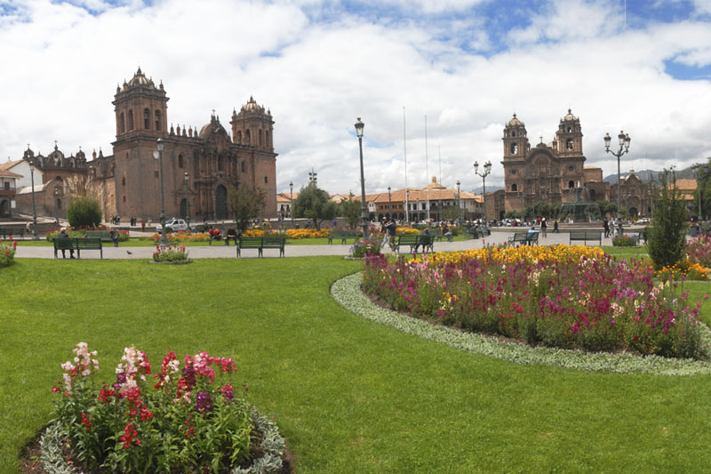 The beautiful Main Square of the Cusco