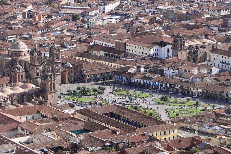 View of the main square of Cusco