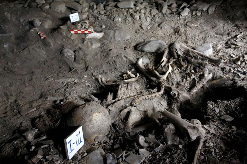esqueletos en machu picchu