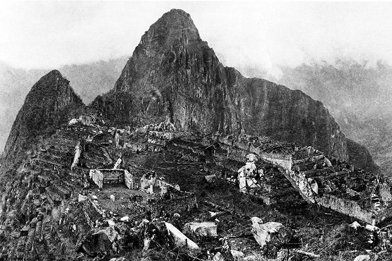 foto de machu picchu tomada por hiram bingham en 1911