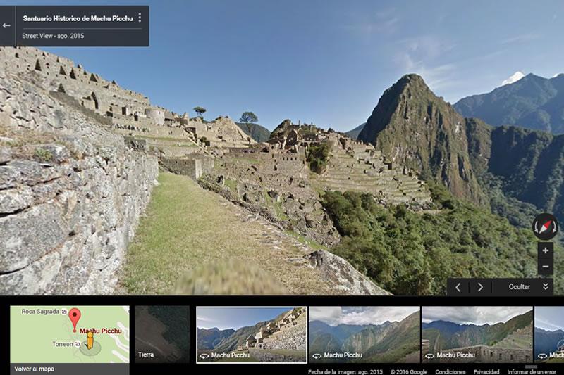 Google Street View de Machu Picchu