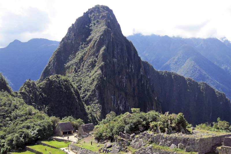 The steep mountain Huayna Picchu, the most popular of Machu Picchu