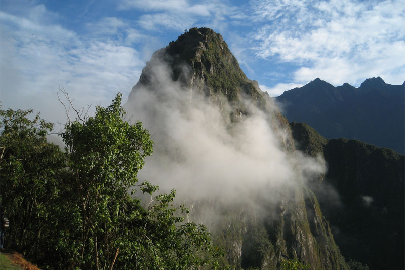 Huayna Picchu among the clouds