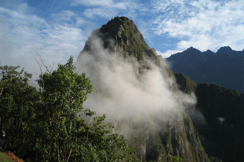 Huayna Picchu among the clouds