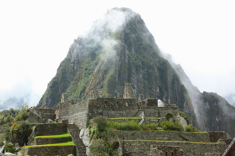 View of the Huayna Picchu from Machu Picchu