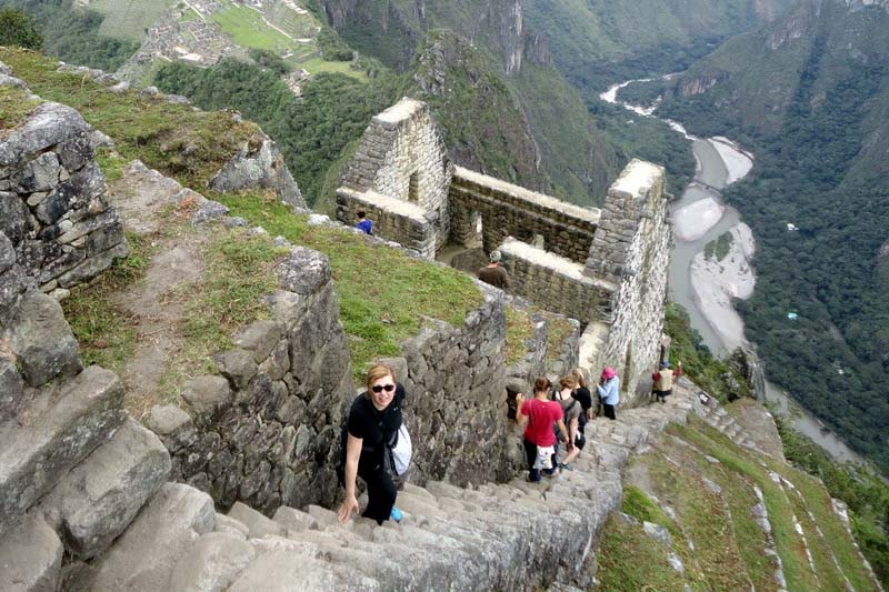 Stairs of death in Huayna Picchu