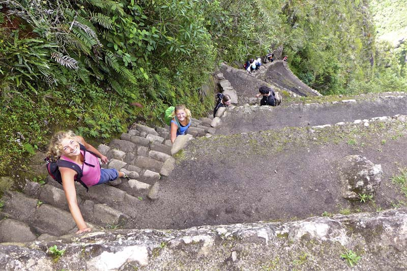 The Death Stairs in the Huayna Picchu Mountain