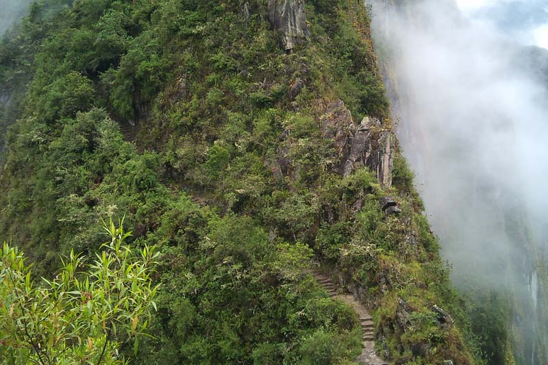 Road in Huayna Picchu
