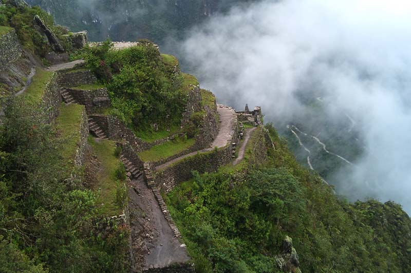 Terraces in the mountain huayna picchu