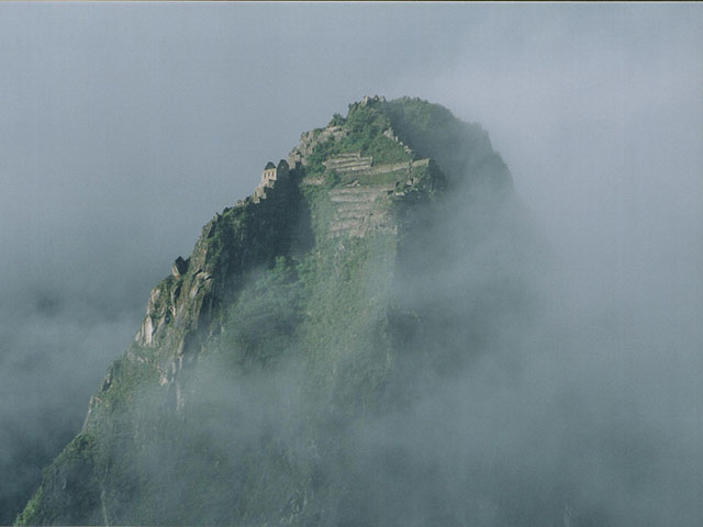 Huayna Picchu between the clouds