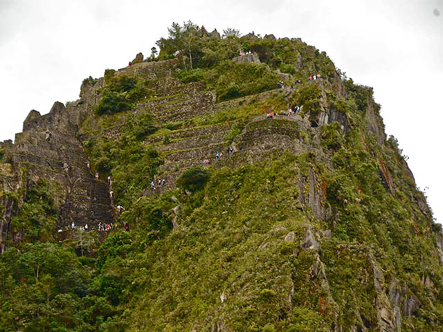 View of the top of the Huayna Picchu
