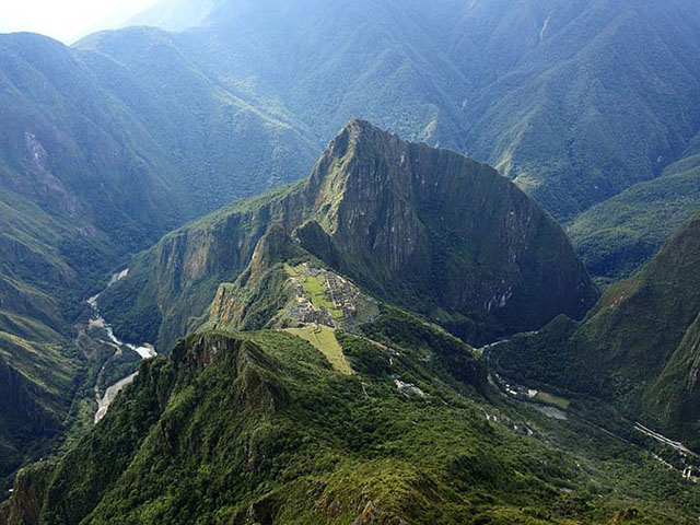 View from the mountain Machu Picchu