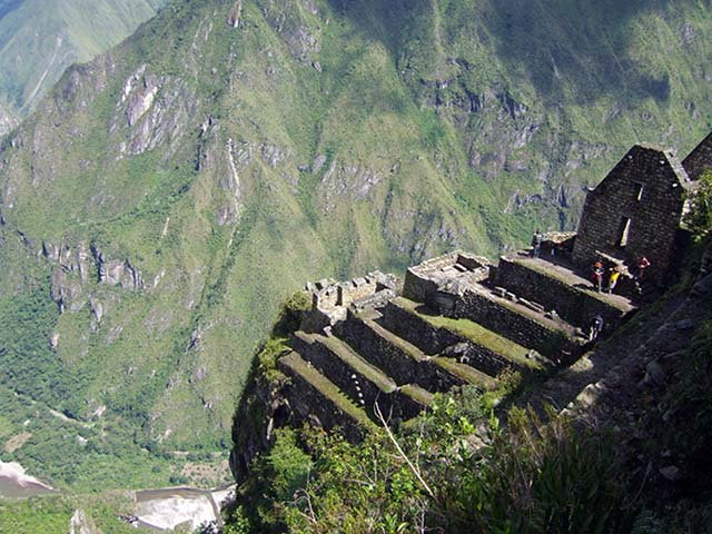 View from the top of the Huayna Picchu