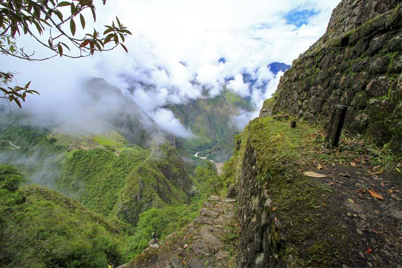 Roads in the mountain huayna picchu
