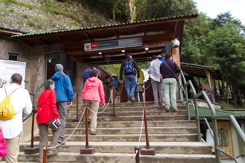 control de ingreso a Machu Picchu