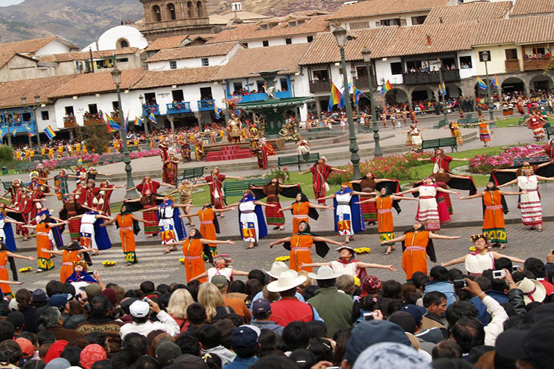 Inti Raymi - The Feast of the Sun In the Main Square fo the Cusco