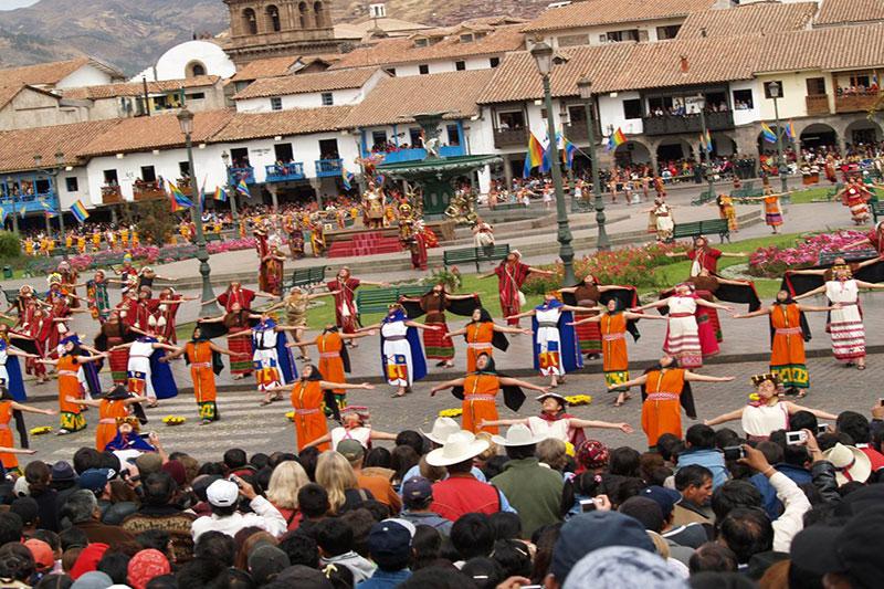 Inti Raymi Fiesta del Sol Cusco Peru Plaza Principal