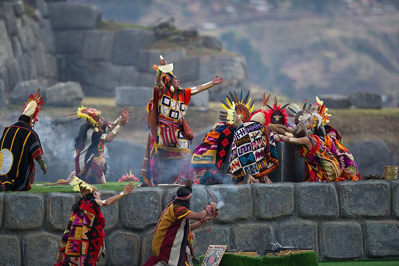 Inti Raymi Fiesta del Sol Cusco Peru Sacsayhuaman