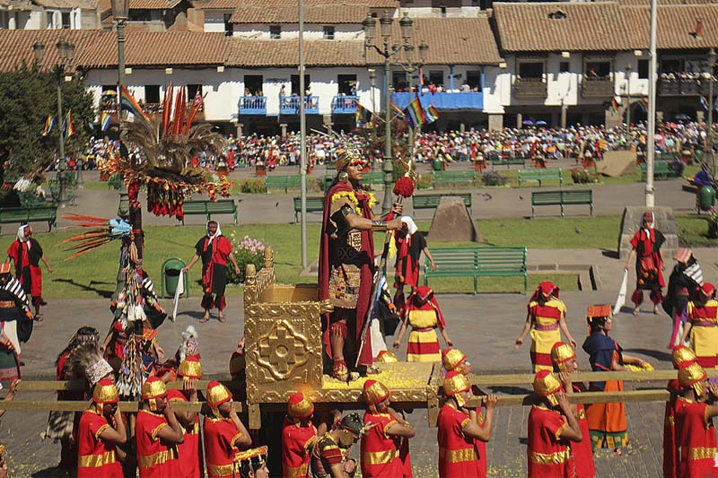 Celebration of the Inti Raymi in the dry season