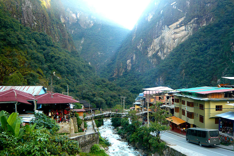 Machu Picchu Stadt Aguas Calientes