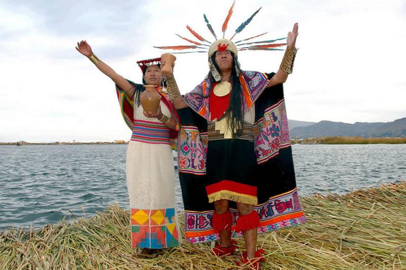 Mise en scène de la légende inca de Manco Capac et Mama Ocllo