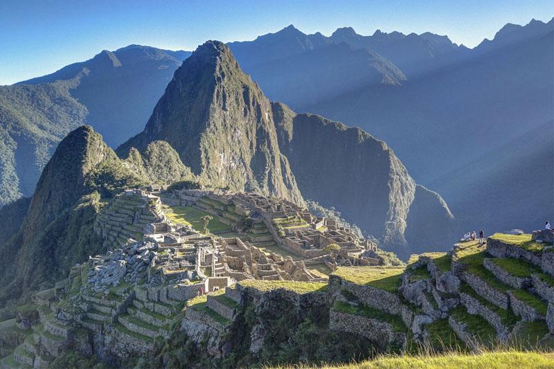Asombroso amanecer en Machu Picchur