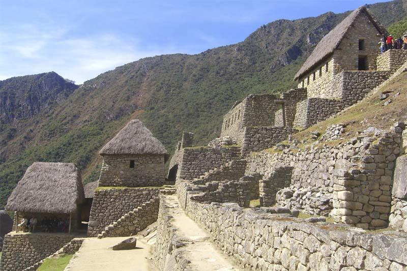 Residential area Machu Picchu