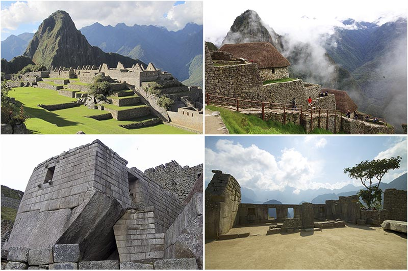 Machu Picchu collage