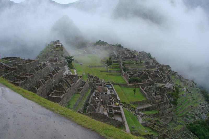 Machu Picchu em época de chuvas