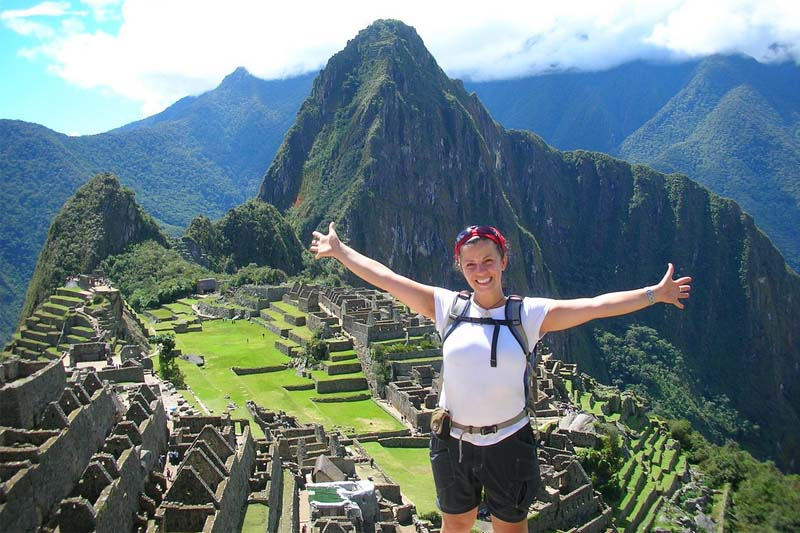 Happy enjoying Machu Picchu