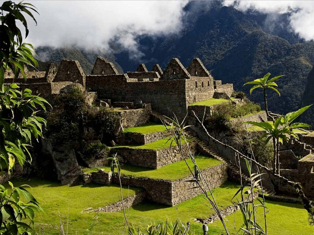 Machu Picchu among nature