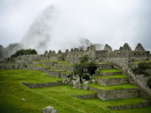 Machu Picchu after raining