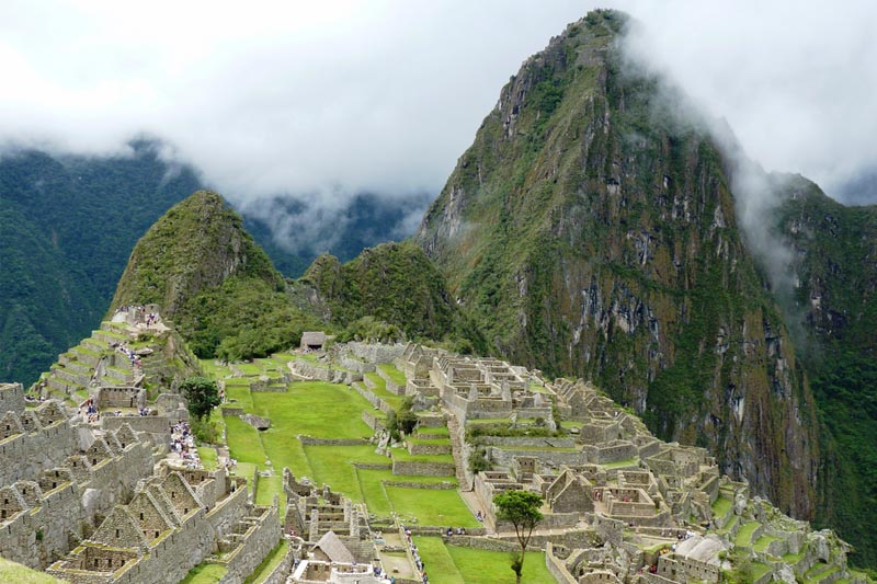 Machu Picchu and its natural verdure of rainy season