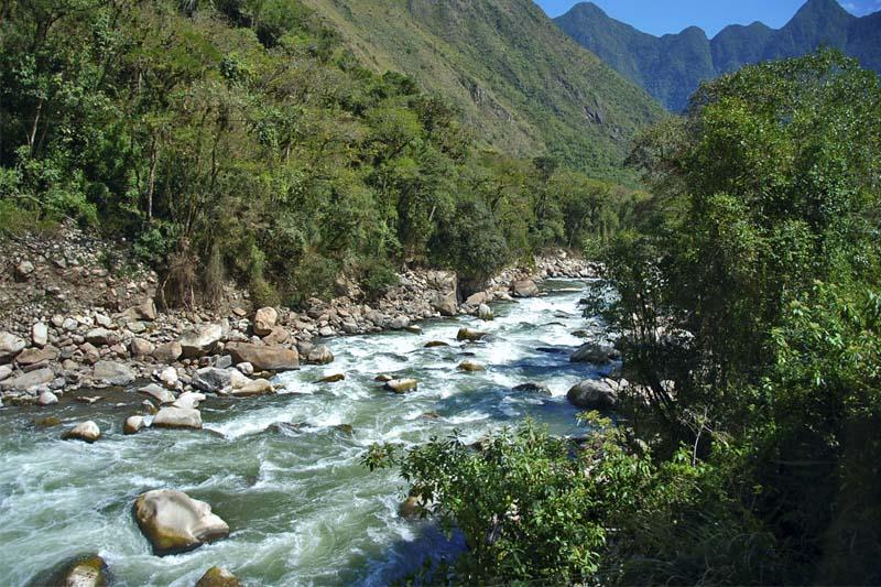 Rio Urubamba en Machu Picchu