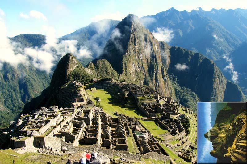 El rostreo de Machu Picchu
