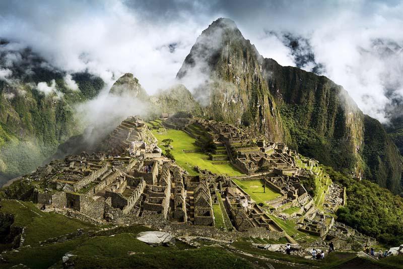 Machu Picchu na estação chuvosa