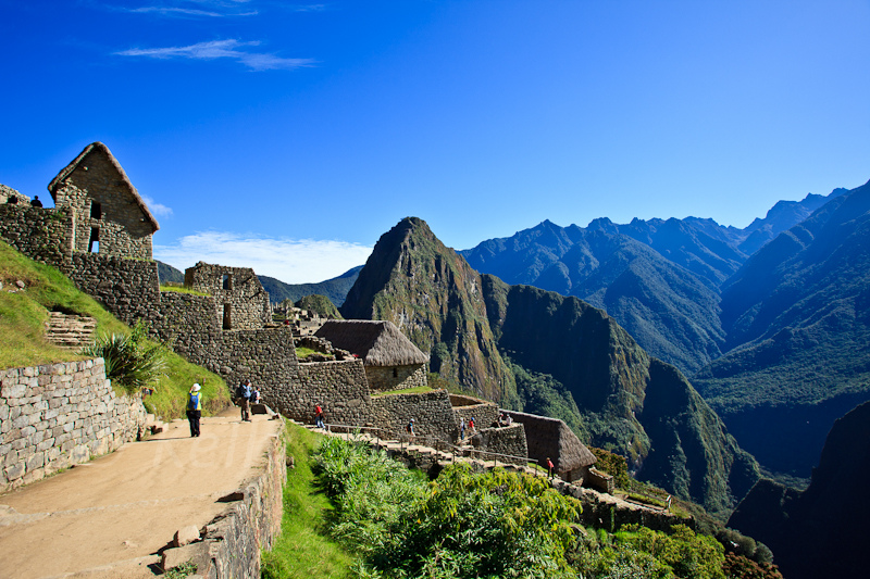 Machu Picchu and its beautiful dry season blue sky