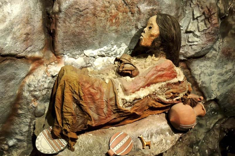 The lady of Ampato, better known as the Juanita Mummy