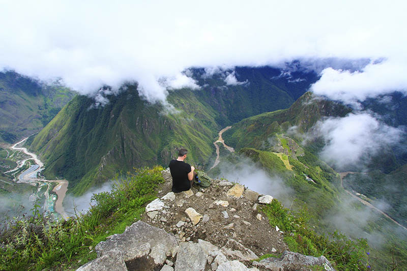 Spectacular view from the top of Machu Picchu Mountain